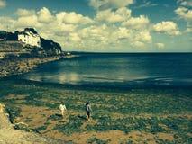 Spiaggia in Cornovaglia Fotografia Stock Libera da Diritti
