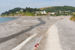 Spiaggia Cornovaglia di Seaton vicino a Looe Inghilterra, Regno Unito Immagini Stock Libere da Diritti