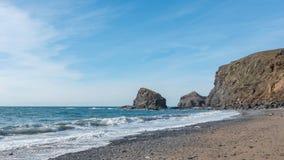 Spiaggia in Cornovaglia, Inghilterra Fotografie Stock Libere da Diritti