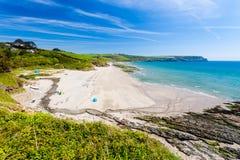Spiaggia Cornovaglia Inghilterra di Pendower Immagini Stock