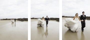 Spiaggia corrente di matrimonio Fotografia Stock Libera da Diritti