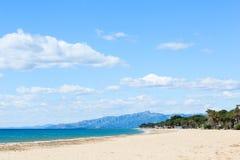 Spiaggia in Costa Dorada, Spagna Fotografia Stock