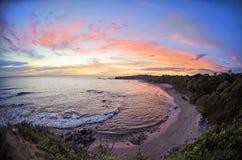 Spiaggia in Costa Rica Fotografia Stock Libera da Diritti