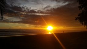 Spiaggia Costa Rica di LJaco Fotografie Stock Libere da Diritti