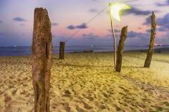 Spiaggia crepuscolare Immagine Stock