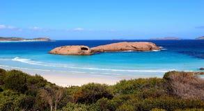 Spiaggia crepuscolare in Esperance, Australia occidentale fotografia stock