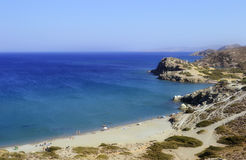 Spiaggia in Creta, Grecia Fotografie Stock Libere da Diritti