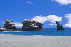 Spiaggia Crete di Triopetra Fotografie Stock Libere da Diritti