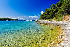 Spiaggia croata Immagine Stock