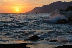 Spiaggia croata Immagine Stock Libera da Diritti