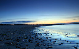Spiaggia curva Fotografia Stock