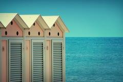 Spiaggia d'annata di stile fotografie stock