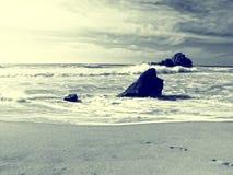 Spiaggia d'annata di stile Fotografia Stock Libera da Diritti