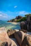 Spiaggia d'Argent di sorgente di Anse Fotografia Stock Libera da Diritti