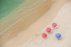 Spiaggia da sopra Immagine Stock Libera da Diritti