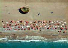 Spiaggia da sopra Immagini Stock Libere da Diritti