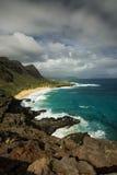 Spiaggia dall'allerta, Oahu, Hawai di Makapuu Fotografia Stock