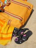 spiaggia degli accessori Fotografie Stock Libere da Diritti