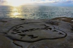 Spiaggia degli amanti Fotografie Stock