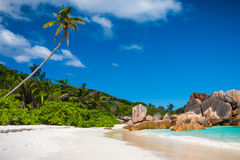 Spiaggia dei Cocos di stordimento Anse Immagine Stock Libera da Diritti