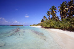 Spiaggia dei Maldives Fotografia Stock