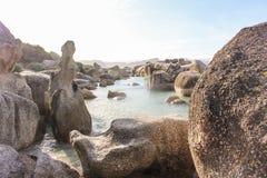 Spiaggia dei massi nel Sudafrica Fotografia Stock Libera da Diritti