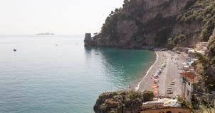 Spiaggia dei Sassolini, famous beach in Scauri, Italy Royalty Free Stock Image