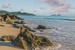 Spiaggia dei soffietti fotografia stock