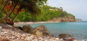 Spiaggia dei terreni boscosi, Montserrat Immagine Stock Libera da Diritti