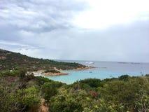 Spiaggia del普林西比,撒丁岛 免版税库存照片