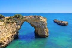Spiaggia del Algarve Fotografia Stock Libera da Diritti