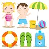 Spiaggia del bambino Fotografia Stock Libera da Diritti