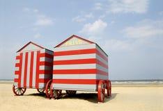 Spiaggia del Belgio Fotografie Stock