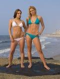 Spiaggia del bikini Immagini Stock