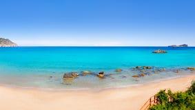 Spiaggia del BLANCA Ibiza del Agua di Aiguas Blanques Fotografia Stock Libera da Diritti