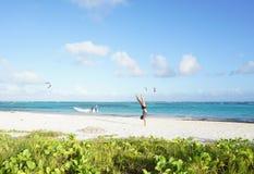 Spiaggia del BLANCA, Repubblica dominicana Fotografia Stock
