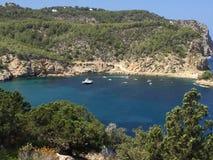 Spiaggia del blu di Ibiza Immagine Stock Libera da Diritti