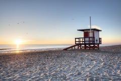 Spiaggia del cacao ad alba fotografia stock