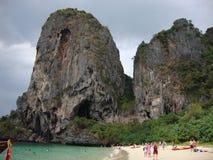 Spiaggia del calcare. Fotografia Stock Libera da Diritti