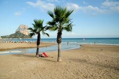 Spiaggia del Calpe Fotografia Stock Libera da Diritti