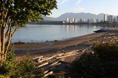 Spiaggia del cane di Kitsilano, Vancouver Fotografie Stock