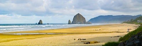 Spiaggia del cannone, Oregon Fotografia Stock Libera da Diritti