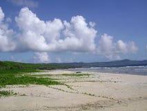 Spiaggia del carro armato, Saipan fotografia stock libera da diritti