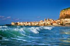 Spiaggia del cefalu, Sicilia Fotografie Stock