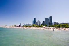 Spiaggia del Chicago Immagine Stock