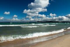 Spiaggia del cittadino della duna dell'orso di sonno Fotografia Stock Libera da Diritti