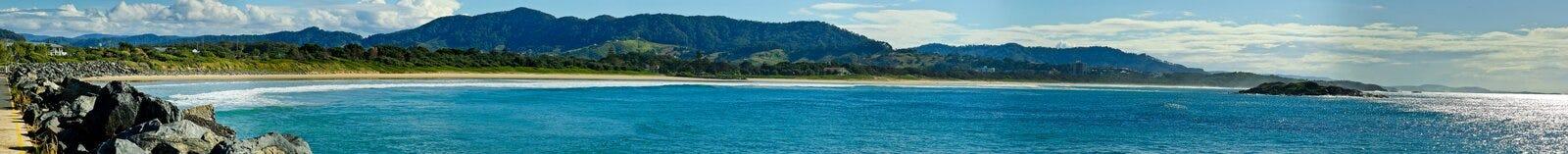 Spiaggia del Coffs Harbour fotografie stock libere da diritti