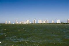 Spiaggia del condominio Fotografie Stock