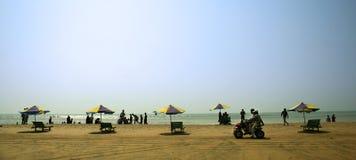 Spiaggia del Cox'S Bazar Fotografie Stock Libere da Diritti