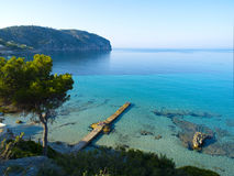 Spiaggia del de marzo dell'accampamento, Mallorca Immagini Stock Libere da Diritti